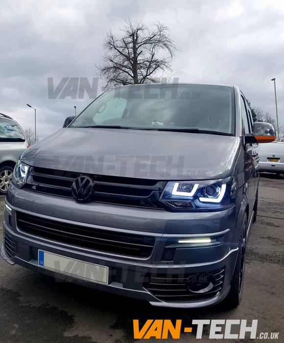 VW Transporter T5 1 LED DRL Light Bar Headlights 2010-2015