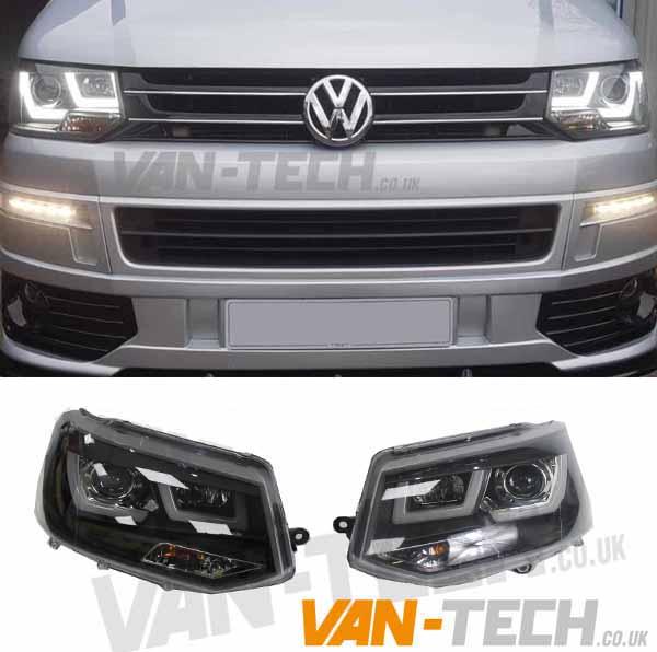 **BLACK FRIDAY SALE** VW Transporter T5.1 LED DRL Light Bar Headlights 2010-2015