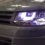 VW Transporter T5 DRL LED Head Lights Light Bar Style