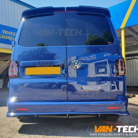 VW T5 T5.1 Transporter Rear Bumper Diffuser and Rear Barn Door Spoiler