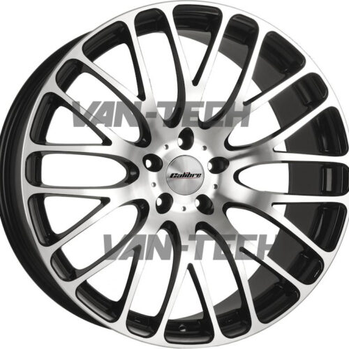 "VW T5 T5.1 T6 Calibre Altus Alloy Wheels 20"" Polished / Black"