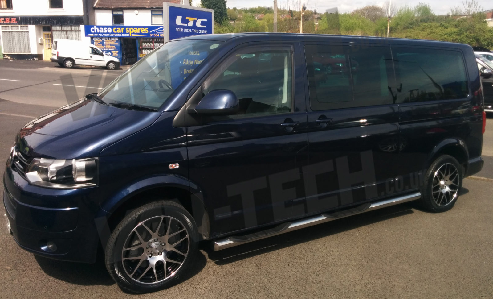 calibre exile 18 alloy wheels polished black vw t5 van van tech. Black Bedroom Furniture Sets. Home Design Ideas