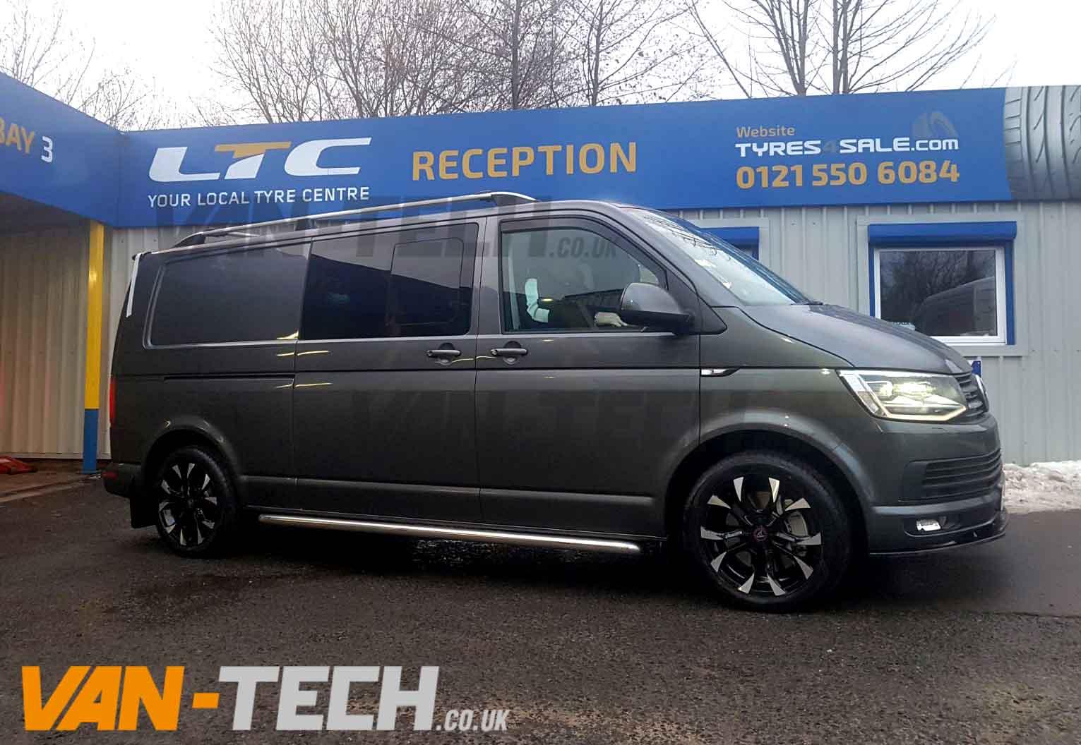 Vw T6 Stainless Steel Side Bars Sportline Style Van Tech