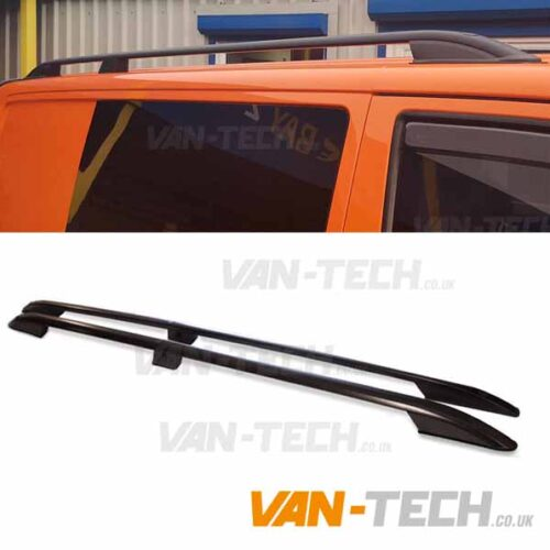 VW Transporter T5 T5.1 Aluminium Black Roof Rails SWB LWB