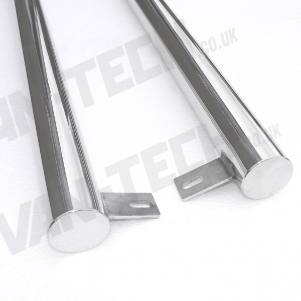 VW T5 T5.1 Flat End Side Bars polished finish SWB LWB Transporter