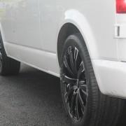 The Calibre Manhattan 20″ Alloy Wheels Black VW T5 Van