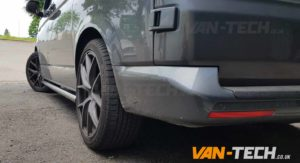 VW T5 T5.1 T6 Black Side Bars Flat End SWB LWB Transporter
