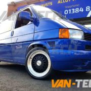 VW Transporter T4 fitted with Calibre Vintage Alloy Wheels Van-Tech (1)