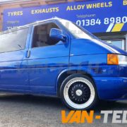 VW Transporter T4 fitted with Calibre Vintage Alloy Wheels Van-Tech (2)