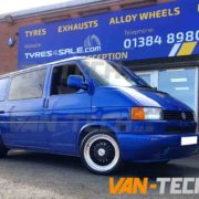 VW Transporter T4 fitted with Calibre Vintage Alloy Wheels Van-Tech (3)