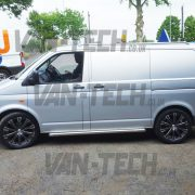 VW Transporter T5 with Calibre manhattan 20 inch Alloy Wheels in Gun Metal