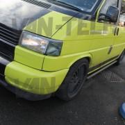 VW transporter T4 black slash end cut side bars