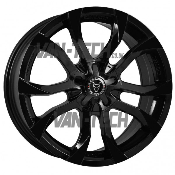 VW T5 T5.1 T6 Wolfrace Assassin 20″ Alloy Wheels Gloss Black