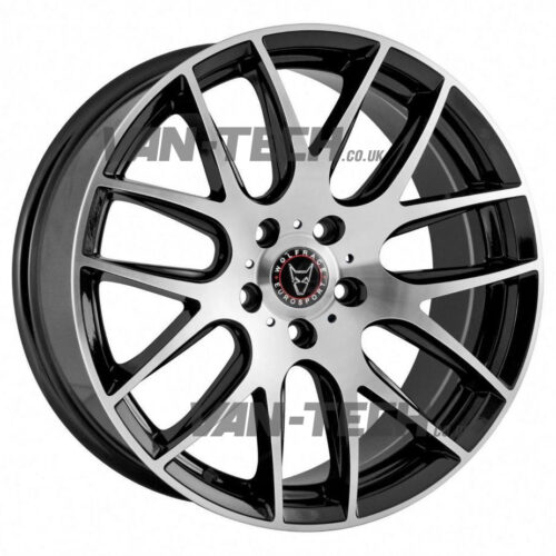 "VW T5 T5.1 T6 Wolfrace Munich 20"" Alloy Wheels Polished / Black"