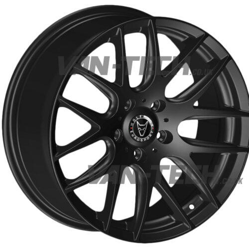 "VW T5 T5.1 T6 Wolfrace Munich 20"" Alloy Wheels Gloss Black"