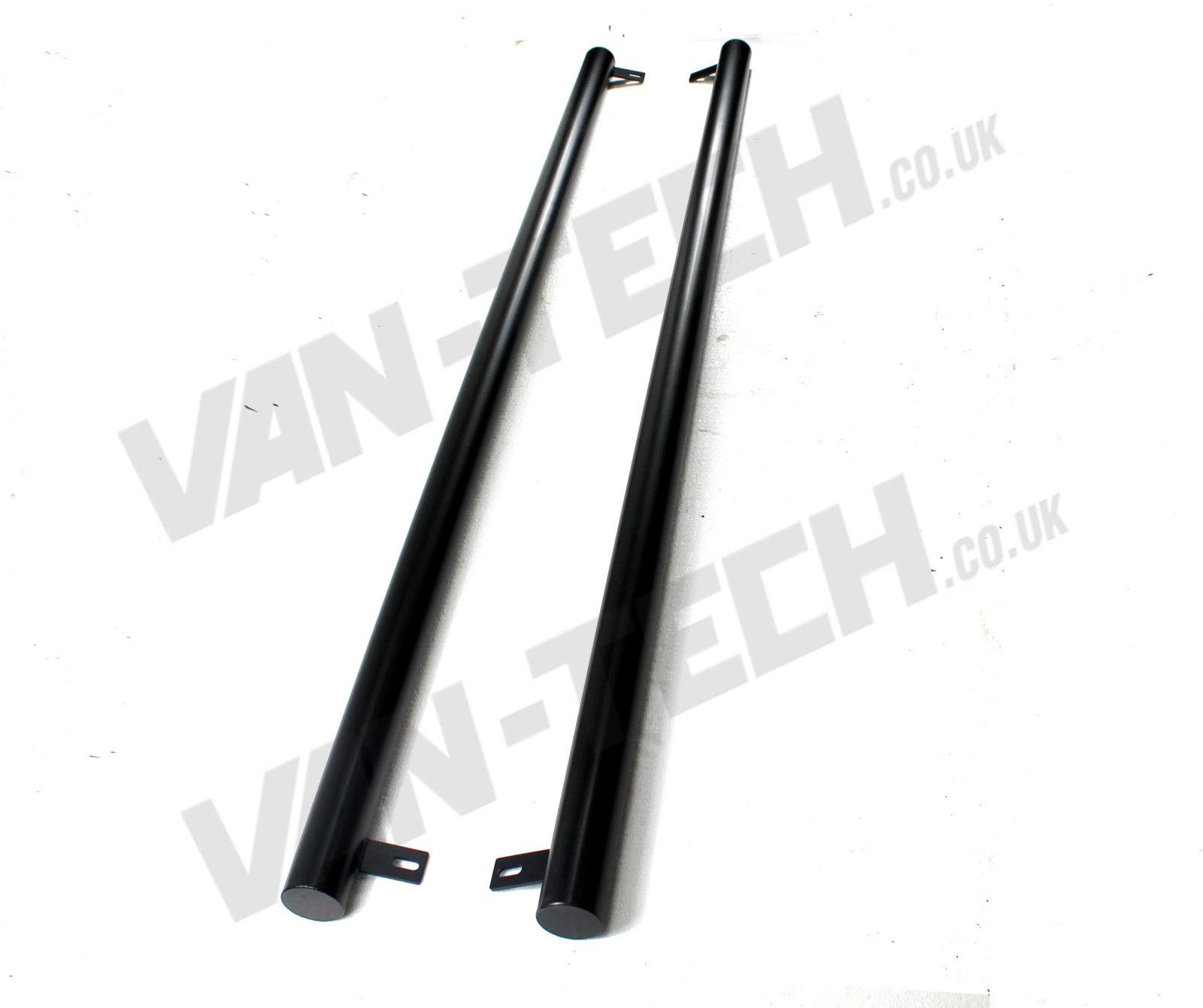 VW T4 Transporter SWB Flat End Black Side Bars
