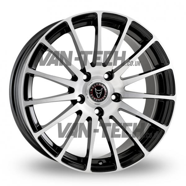 Wolfrace Turismo Alloy Wheels 18″ VW T5 T5.1 T6 Polished / Black