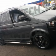 Calibre Odyssey 18 inch Alloy wheels fitted to VW Transporter T5 (1)