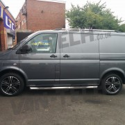 Calibre Odyssey 18 inch Alloy wheels fitted to VW Transporter T5 (2)