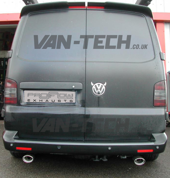 Vw T5 Transporter Stainless Steel Custom Built Exhaust System Single Tail Pipes Vantech: Vw T5 Exhaust At Woreks.co