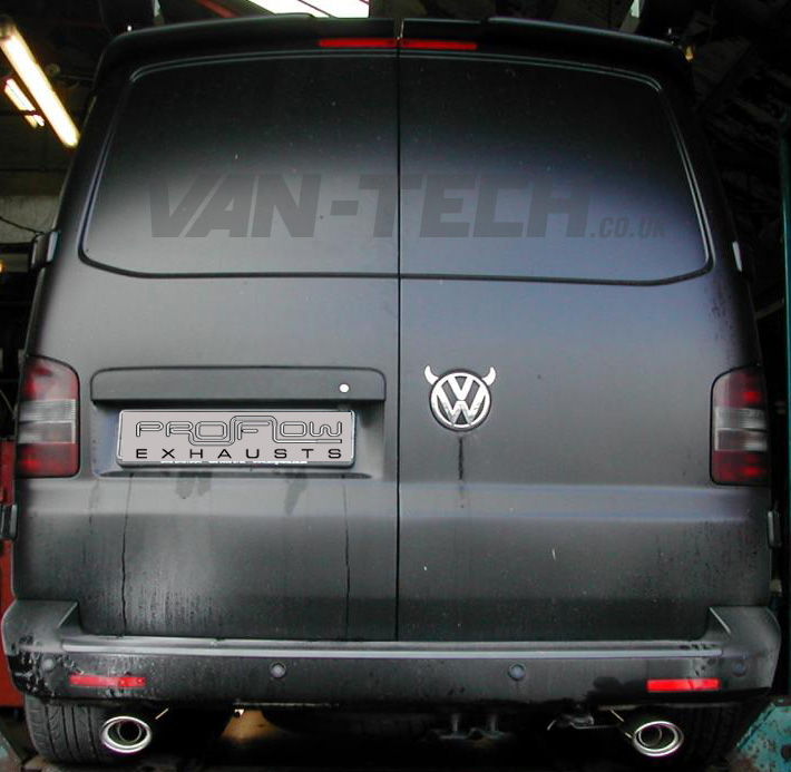 V5 Transporter Proflow Custom Stainless Steel Back Box Duel Tail Pipes Oval: Vw T5 Exhaust At Woreks.co