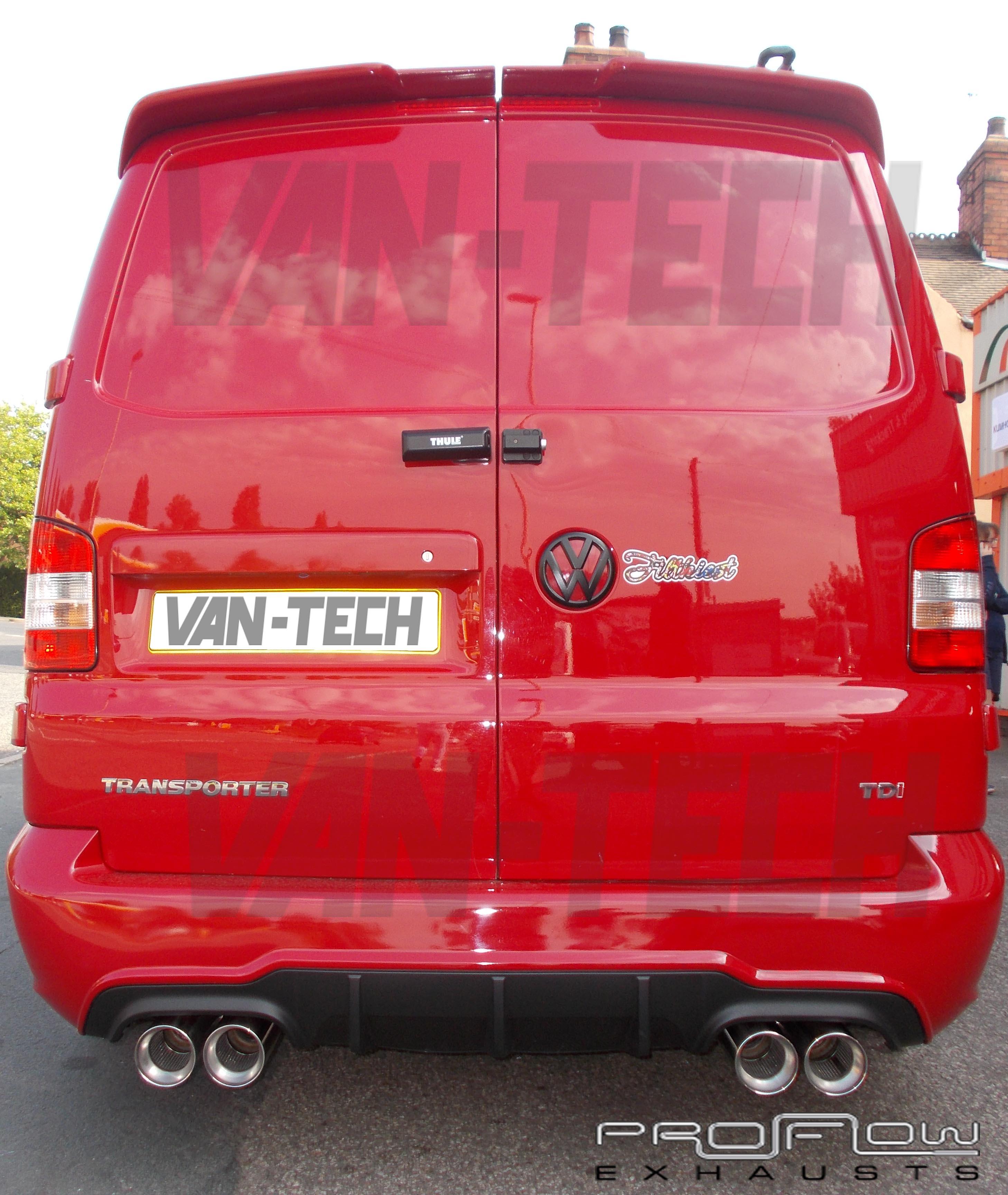 Vw T5 Transporter Stainless Steel Custom Exhaust Back Box