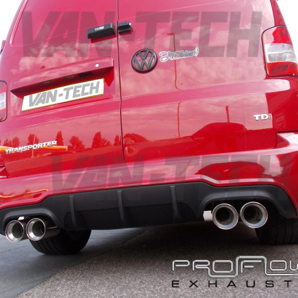 Vw T5 Transporter Stainless Steel Custom Exhaust Back Box Dual Twin Tail Pipe: Vw T5 Exhaust At Woreks.co
