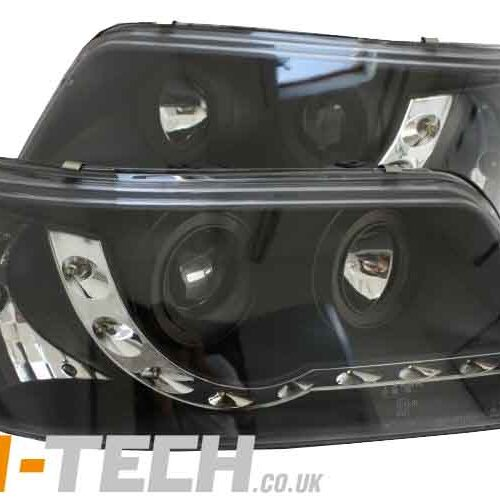 VW Transporter T5 Headlights Black DRL LED Audi Style 2003-2010