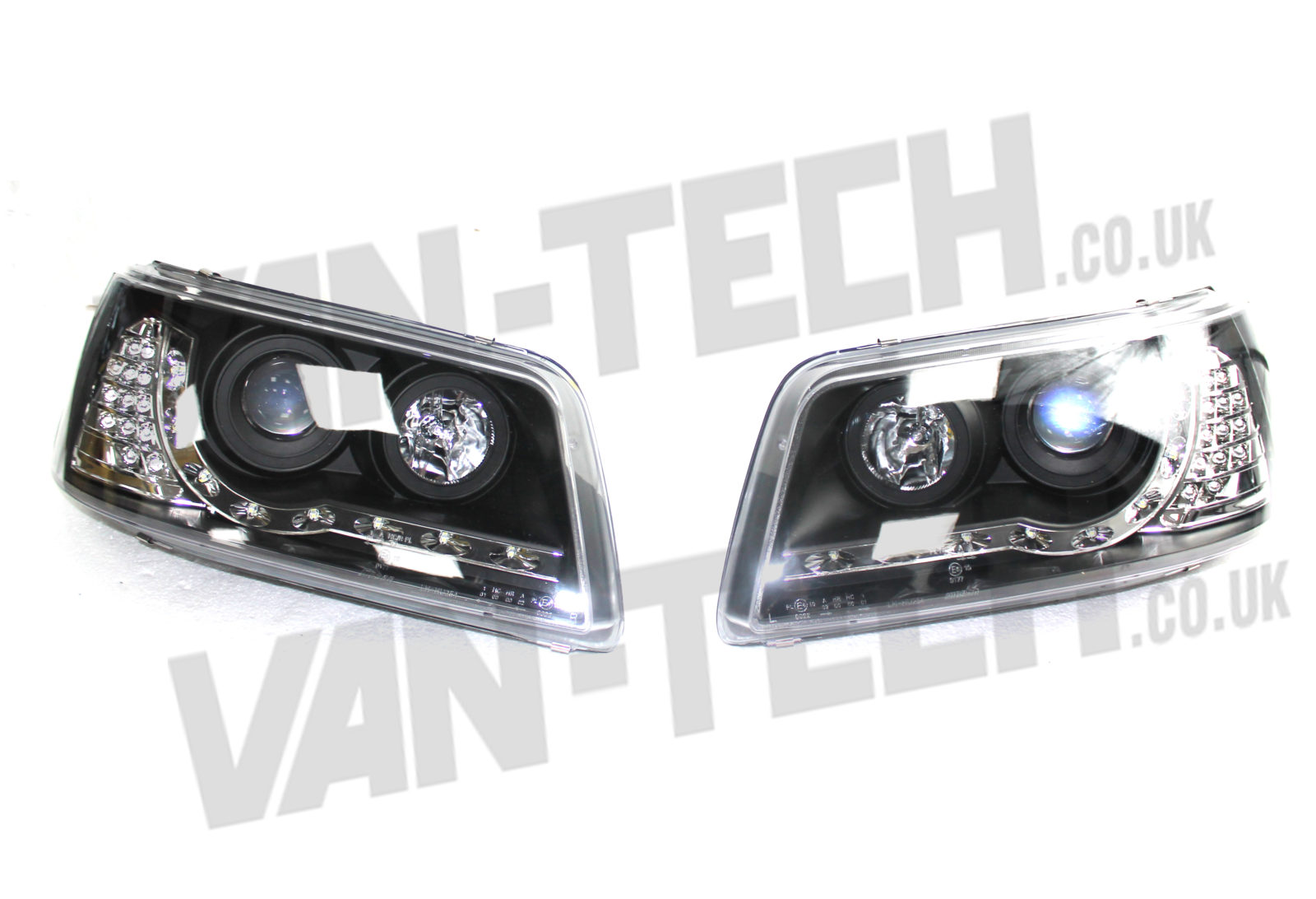 Vw T5 Headlights Drl Audi Style Led Indicator 2003 2010