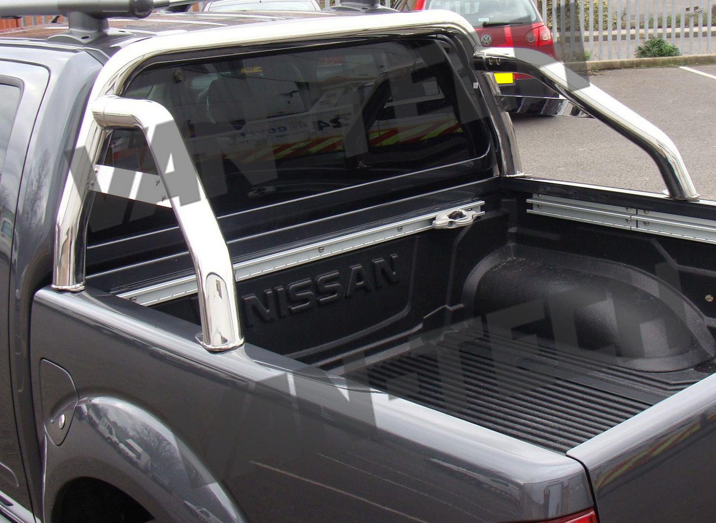 nissan navara d40 sports roll bar stainless steel | van-tech