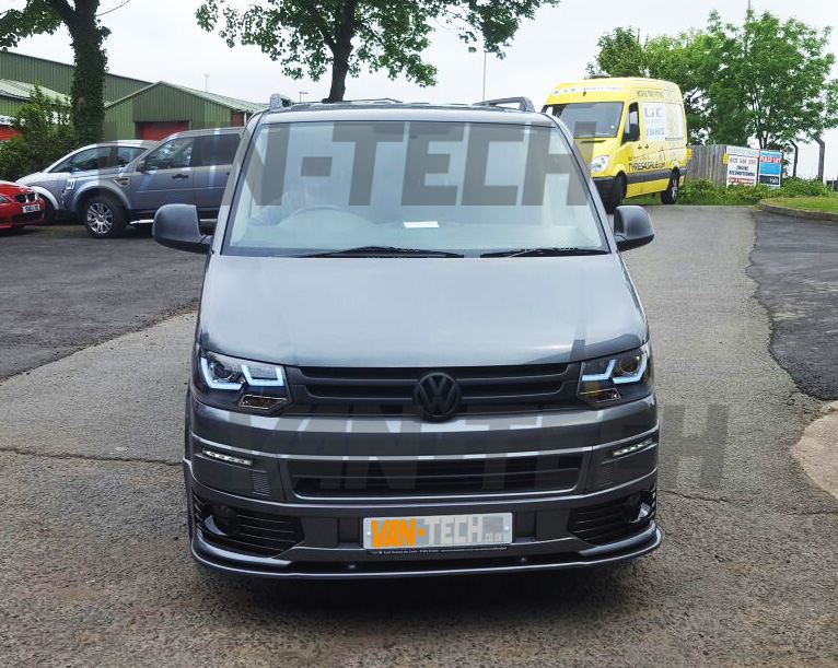 vw transporter t5 front end conversion styling pack 3 van tech. Black Bedroom Furniture Sets. Home Design Ideas