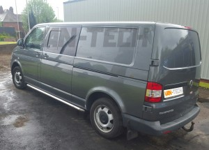 VW Transporter T5 Before picture Side bars and roof rails