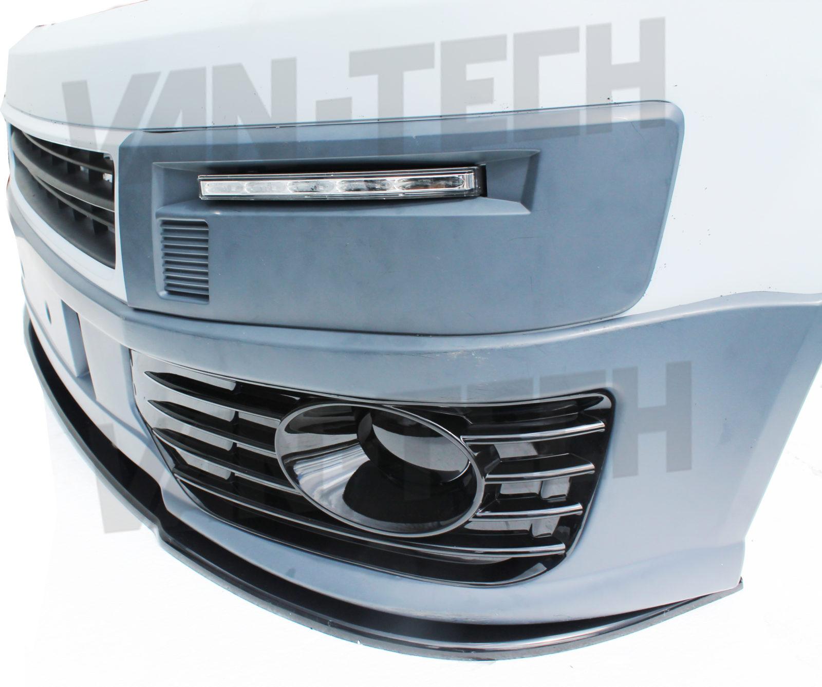 Conversion Van Models >> VW Transporter T5 Lower Front End Conversion Styling kit | Van-Tech