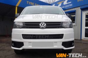 VW transporter t5 fitted with rear bumper protectro and sportline front bumper