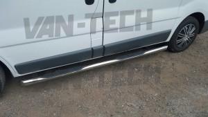 Vauxhall Vivaro RenaultTrafic Nissan primastar Stainless steel side bars with four steps