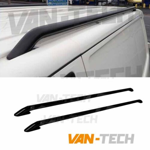 VW T5 T5.1 T6 T6.1 Black Roof Rails Stainless Steel SWB LWB