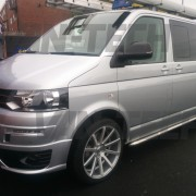set of  T202 20 inch Judd Alloy wheels fitted to VW Transporter T5 van