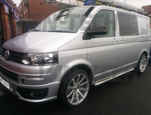 """Premium 20"""" inch T202 Judd Wheels fitted to a VW Transporter! 