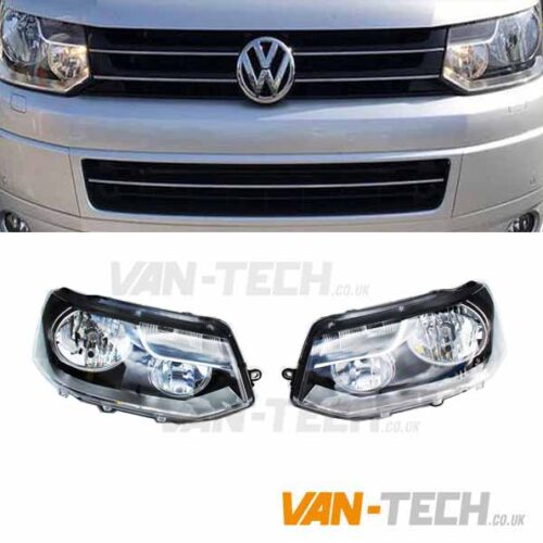 VW Transporter T5.1 Caravelle Headlights 2010 - onwards