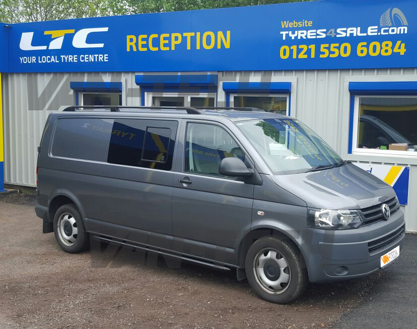 Vw T5 T5 1 Swb Lwb Aluminium Black Roof Rails Van Tech