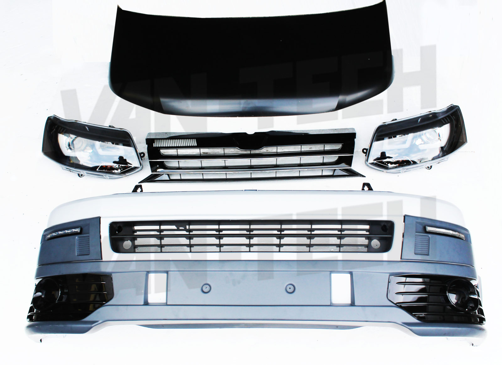 Vw Transporter T5 Front End Conversion Styling Pack 2 Van Tech