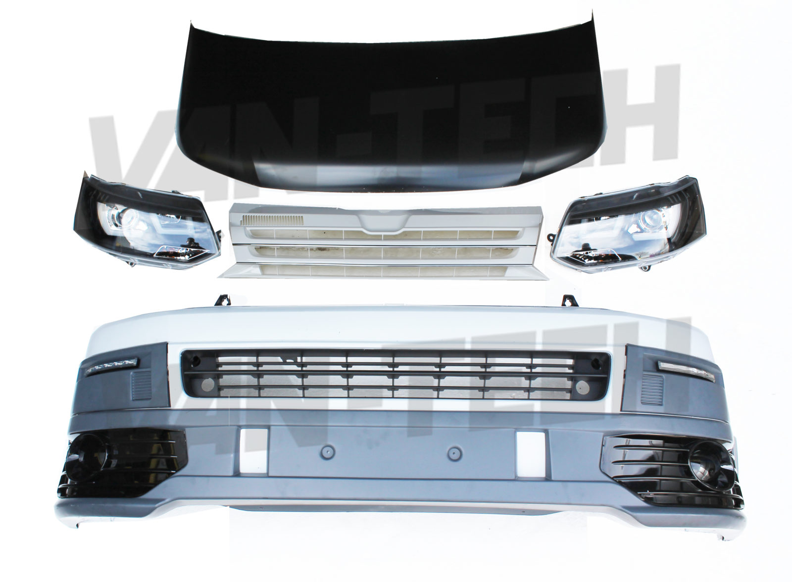 Vw Transporter T5 Front End Conversion Styling Pack 1 Van Tech