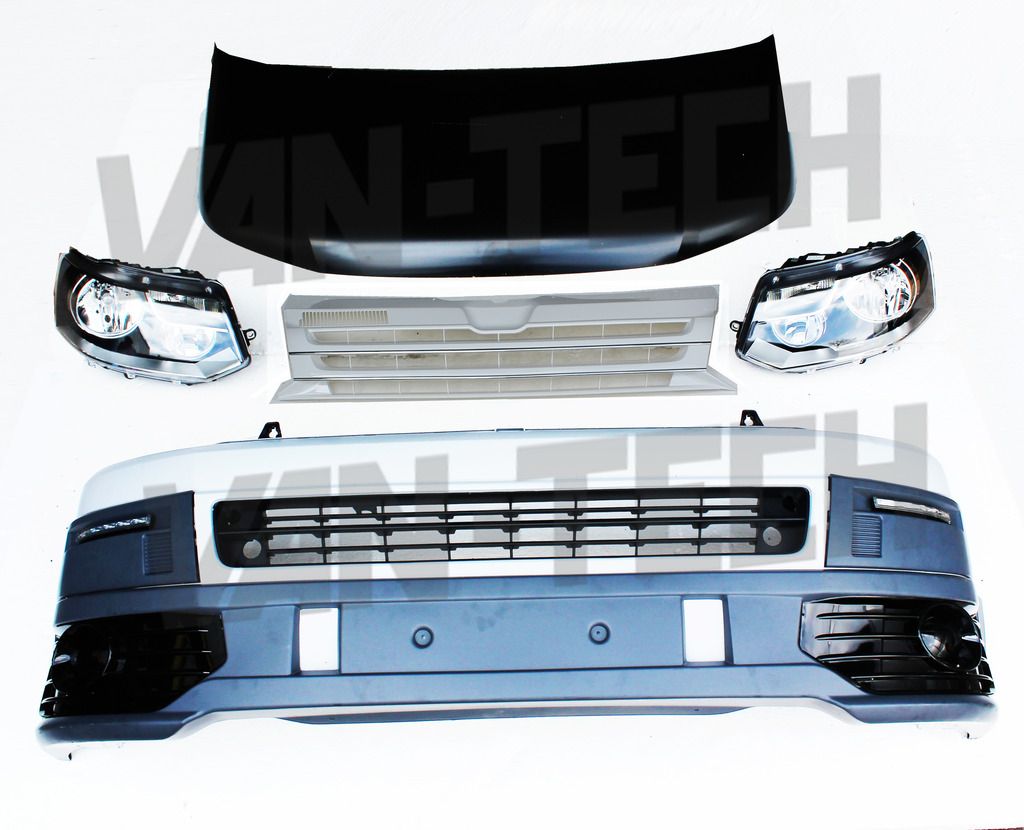 VW Transporter T5 Front End Conversion Styling Pack 4 ...