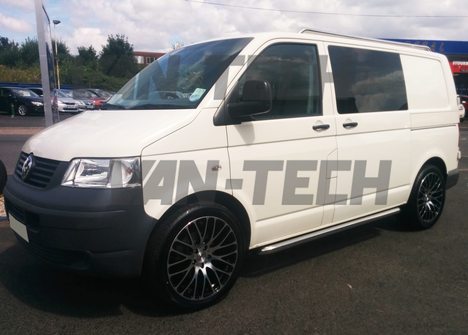 Vw Transporter T5 Fitted With Sportline Style Roof Rails