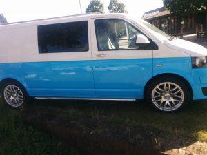 For Sale Volkswagen Transporter T5 Van White And Blue