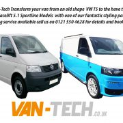 VW Transporter T5 to T5.1 styling kit