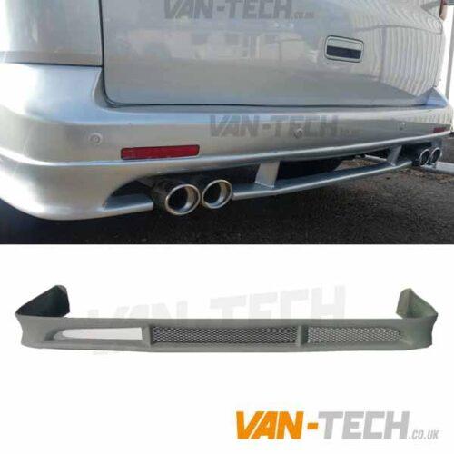 VW Transporter T5 T5.1 Van Rear bumper spoiler splitter 2010 - 2015