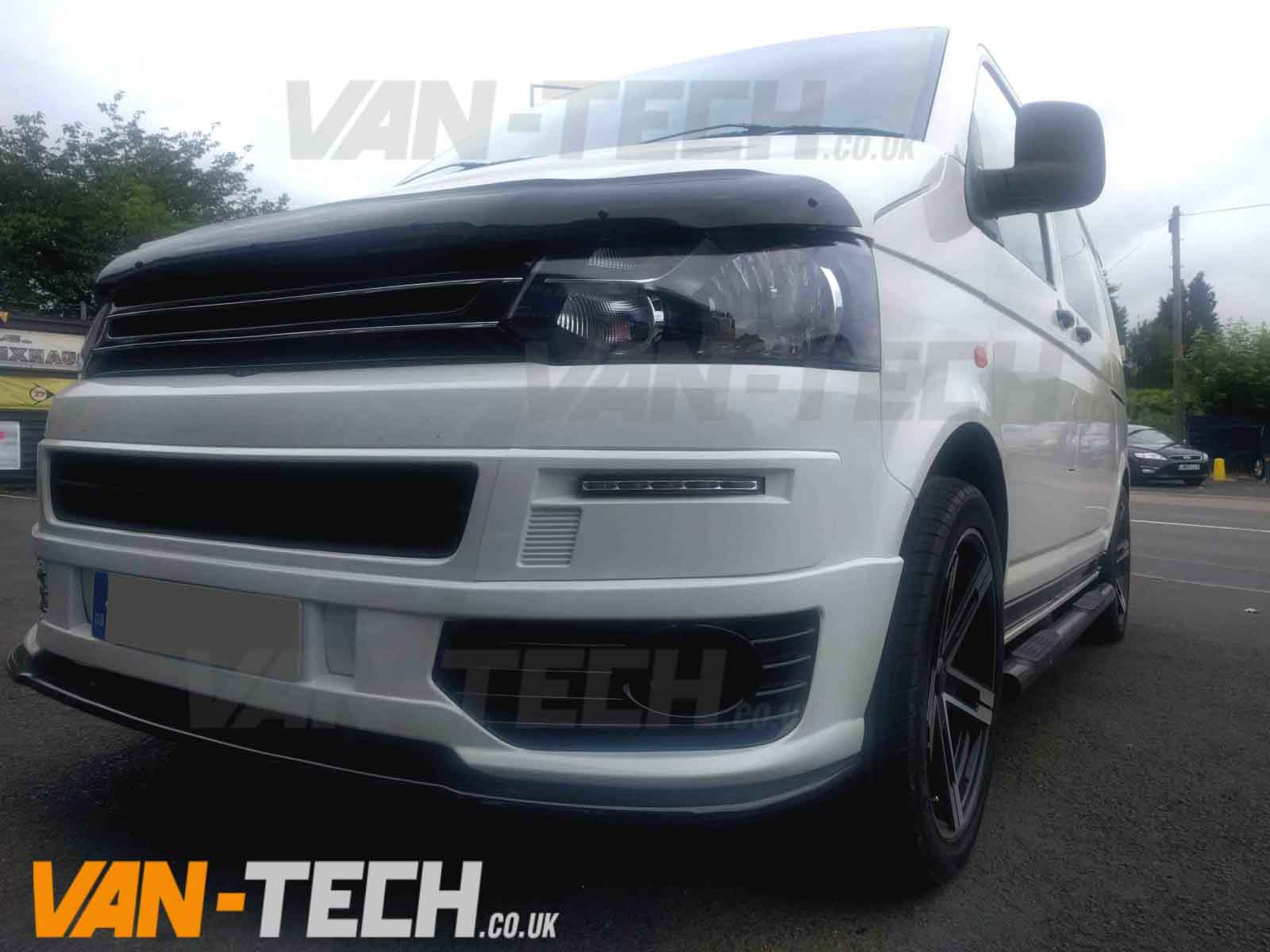 VW Transporter T5.1 Van 2010 - Front Lower Spoiler / Splitter | Van-Tech