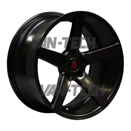 "VW T5 T5.1 T6 Axe EX-18 Alloy Wheels 18"" Gloss Black"