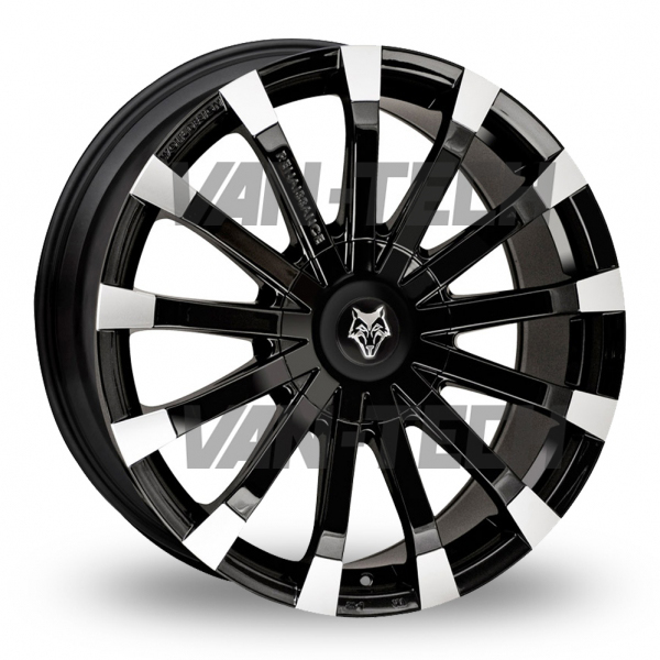 "VW T5 T5.1 T6 Wolfrace Renaissance 20"" Alloy Wheels Black / Polished"
